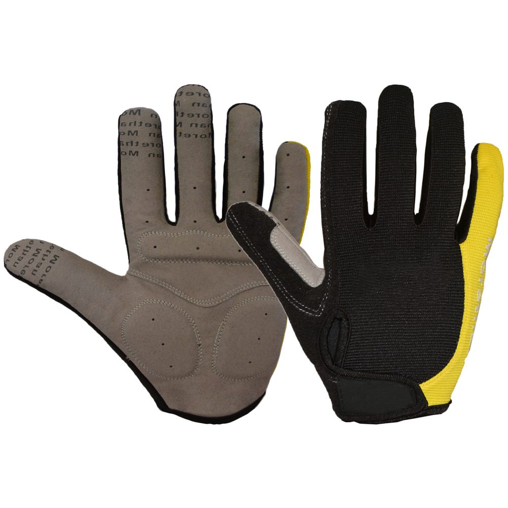 high quality terry cloth design touchscreen full finger road bike gloves